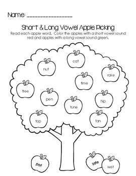 AppleVowelSortingWorksheet