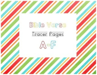 Bible Verse Tracer Page A-F