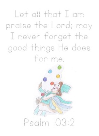 Psalm 103.2 Tracer Page