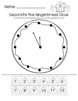 DecoratetheGingerbreadClock