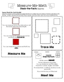 Measure-Me-Math - Measuring Squares